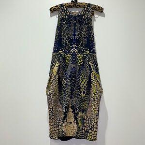 McQ by Alexander McQueen Crocodile Halter Dress ML